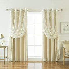 Boreas Well Sheer Agatha & Blackout Curtain Panel