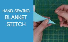 How to work the Blanket Stitch and the appliqué blanket stitch. Sewing Stitches, Blanket Stitch, Fabric Scraps, Hand Sewing, Applique, Sewing Ideas, Sewing By Hand, Stitches, Fabric Remnants