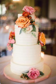 Pretty cake: http://www.stylemepretty.com/michigan-weddings/detroit/2015/04/29/traditional-ballroom-wedding-at-detroits-henry-ford-museum/ | Photography: Lauren Gabrielle - http://laurengabrielle.com/