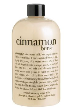 'cinnamon buns' shampoo, shower gel & bubble bath