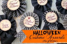halloween costume awards with free printables Loads of different awards so everyone can win!!!!