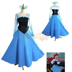 Women Mermaid Ariel Princess Cosplay Halloween Costume Party Dress need this check eBay too for this dress