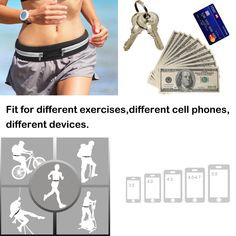 Waist Packs,Smarco Running Belt and Fitness Workout Bags for Cell Phone During Outdoor Exercise Black Case Running Workouts, Workout Gear, Running Belt, Bank Card, Outdoor Workouts, Waist Pack, Credit Cards, Outdoor Activities, Keys
