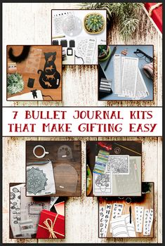 Looking for Bullet Journal ideas? These 7 themed kits make fun layouts quick and easy. No art skills needed. These journaling kits make great Christmas gifts. Bullet Journal Gifts, Bullet Journal Christmas, December Bullet Journal, Bullet Journal Spread, Bullet Journals, Art Journals, Bullet Journal Inspiration, Journal Ideas, Creative Journal