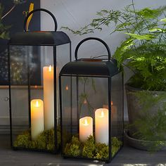 Outside Lanterns, Indoor Lanterns, Porch Lanterns, Outdoor Candles, Fall Lanterns, Large Lanterns, Solar Lanterns, Lanterns Decor, Decorating With Lanterns