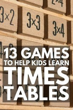 Teaching Times Tables | If you're looking for times tables tricks and games for kids, we've got 15 ideas to make teaching multiplication FUN. With tons of free printables to choose from, these multiplication games and activities are perfect for 2nd, 3rd, 4th, and 5th grade learning, and can be used both in the classroom and at home. We've included free math worksheets and loads of family games to encourage learning everyday!
