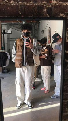 Street Style Outfits Men, Black Men Street Fashion, Stylish Mens Outfits, Casual Outfits, Cool Outfits, Outfits Hombre, Indie Outfits, Retro Outfits, Moda Fashion