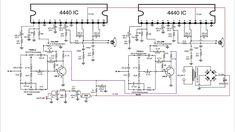 Powerful amplifier using ic. Electronic Circuit Projects, Electronics Projects, Electrical Circuit Diagram, Diy Amplifier, Simple Circuit, Anupama Parameswaran, Pcb Board, Audio Design, Circuit Board