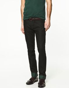 Zara Man - Jeans with Coloured Lining