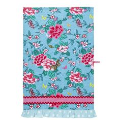 Ulster Weavers Susie Styled Cotton Tea Towel (15 CAD) ❤ liked on Polyvore featuring home, kitchen & dining, kitchen linens, cotton kitchen towels, cotton tea towels, flower stem, ulster weavers and pink kitchen towels