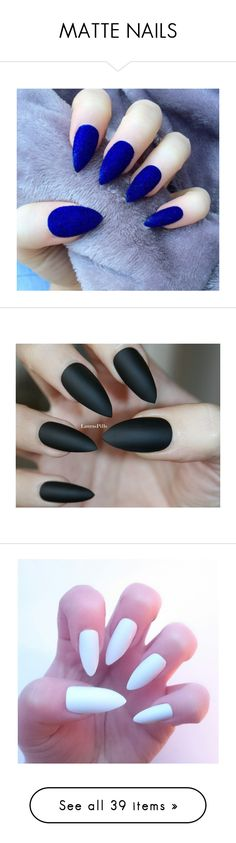 """MATTE NAILS"" by surfernurd ❤ liked on Polyvore featuring beauty products, nail care, nails, makeup, nail polish, black beauty products, nail treatments, beauty, black nail polish and matte nail color"