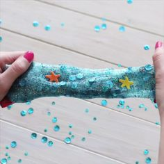 Learn how to Hidden Mermaid Slime. Discover the best DIY Ideas and How to Videos at Darby Smart. Fun Crafts, Diy And Crafts, Crafts For Kids, Arts And Crafts, Ocean Crafts, Mermaid Slime, Rosalie, Mermaid Parties, Mermaid Birthday Party Ideas