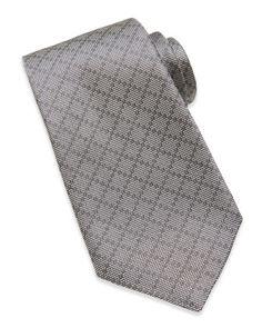 Woven Diamante Silk Tie, Light Gray   by Gucci at Neiman Marcus.