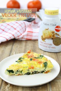 Honey Mustard Veggie Frittata // a simple breakfast recipe ready in under 30 minutes! // thehealthymaven.com