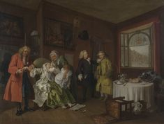 Marriage A-la-Mode: 6, The Lady's Death  about 1743, William Hogarth