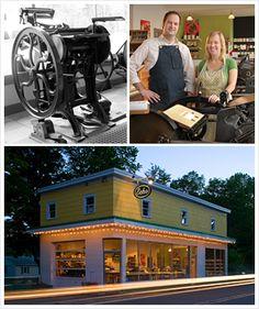 Our shop... Echo Letterpress in Jeffersonville, NY