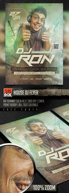 House Dj Flyer Template PSD. Download here: http://graphicriver.net/item/house-dj-flyer/14853063?ref=ksioks