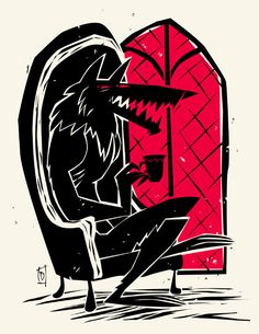 Rotkäppchen by Peter Donnelly, via Behance / I wait here, love