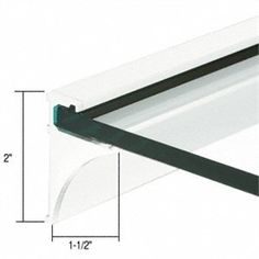"""C.R. LAURENCE SE1418W CRL White 18"""" Aluminum Shelf Kit for 1/4"""" Glass by C.R. Laurence. $24.46. Available For 1/4"""" and 3/8"""" (6 and 10 mm) Thick Glass Available in Four Lengths and Finishes Easy to Install CRL Aluminum Shelf Extrusions are designed to support glass shelves without a lot of visible metal. The cleat easily attaches to studs with screws, and can support a shelf with a maximum projection of 12 inch (305 millimeter). Offered in 96 inch (2.4 meter) long Extrus..."""