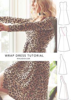 Lady in Leopard // Making the Perfect Wrap Dress; DIY Wrap Dress Tutorial - Lady in Leopard // Making the Perfect Wrap Dress; DIY Wrap Dress Tutorial Source by erikyah - New Dress Pattern, Dress Patterns, Sewing Patterns, Clothing Patterns, Sewing Clothes, Diy Clothes, Dress Tutorials, Sewing Tutorials, Sewing Ideas