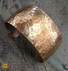 Patinated Hand Hammered Raw Bronze Cuff Bracelet Designs Are Obtained By A Hand Hammering Process Creating A Hammered Pattern. The Piece Is Formed, Patinated, Buffed And Sealed With Renaissance Wax To Maintain Design At Its Optimum Beauty.