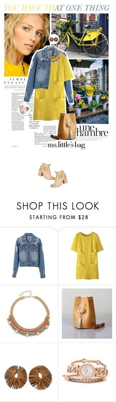 """""""Ms. little's bag meets B. Halo XXXIII in a Hang Around Sunday"""" by dreamer-ena ❤ liked on Polyvore featuring Ciel, Modern Vintage, WithChic, Adia Kibur, Giulia Boccafogli, FOSSIL and Astley Clarke"""