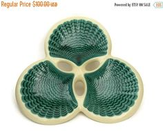 10% OFF Sale Mid Century Ceramic Plate by by LeBonheurDuJour