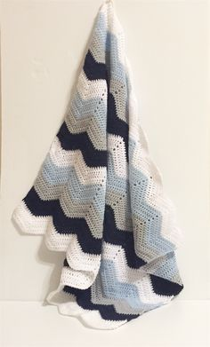 Baby Boys Chevron Blanket