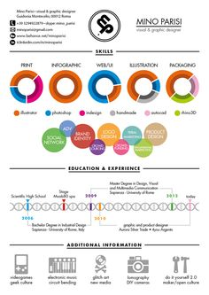 28 amazing examples of cool and creative resumescv infographic resume and behance
