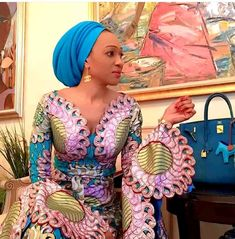 2020 Ankara Styles and Designs for Flare Sleeves Long African Dresses, African Lace Styles, Latest African Fashion Dresses, African Print Dresses, African Print Fashion, Africa Fashion, Ankara Styles, Long Dresses, African Attire