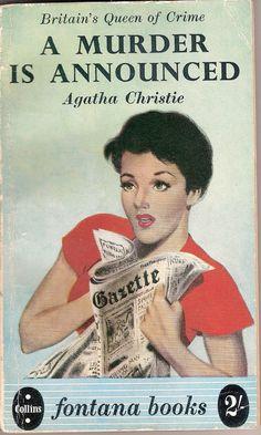 """Agatha Christie, """"A Murder is Announced""""."""