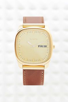 Nixon Identity Leather Watch in Brown