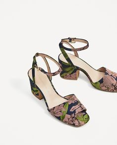 EMBROIDERED HIGH HEEL SANDALS-Heeled sandals-SHOES-WOMAN | ZARA United States