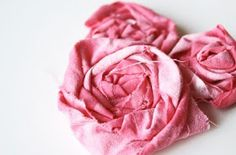 Headband folded flowers