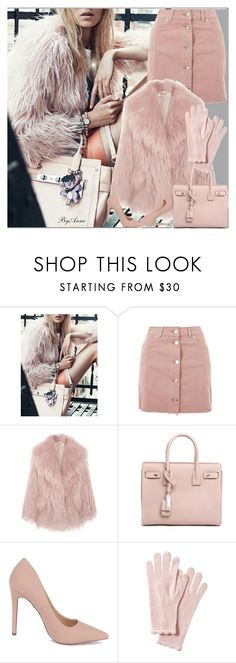 """Lovely pink"" by anne-977 ❤ liked on Polyvore featuring Topshop, Miu Miu, Yves Saint Laurent, Pink and fauxfur"