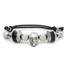 Alexander McQueen Beaded Leather Bracelet | MR PORTER