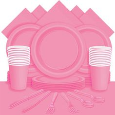 Rosa Party Pack - Pappteller, Becher und Servietten, usw. http://www.partycity.de/themen/partyzubehoer-rosa.aspx