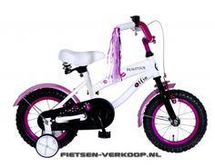 Meisjesfiets Beautyfox Wit 12 Inch | bestel gemakkelijk online op Fietsen-verkoop.nl