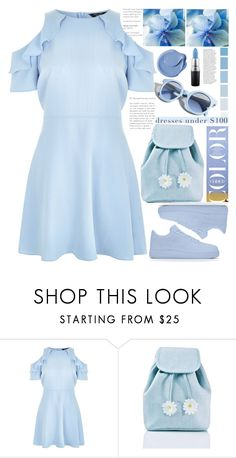 """""""color blue style"""" by licethfashion ❤ liked on Polyvore featuring New Look, MAC Cosmetics, Pinko, Sugarbaby, Anja, polyvoreeditorial and licethfashion"""