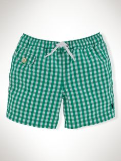Ralph Lauren boys toddler swim trunk. Super cute!!  Lots of swimming with Everett this Summer :) we're going to be outside a lot!