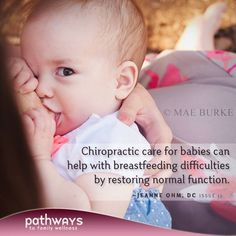 Breastfeeding Difficulties and Chiropractic by Jeanne Ohm, DC
