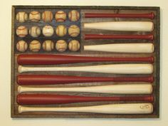 Baseball & Bat Flag for baseball room. This would be cool for a boys room or man cave!
