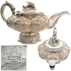 Georgian antique sterling silver english teapot