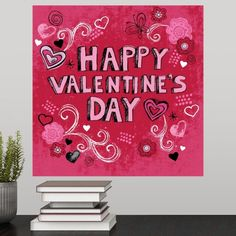 Made in USA: Canvas is handcrafted and made-to-order in the United States using high quality artist-grade canvas. Valentine Poster, Happy Valentines Day, Canvas Art Prints, Canvas Wall Art, Valentine's Day Poster, Large Canvas, Poster Prints, Classy, Nails