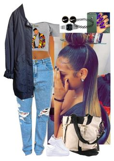 """Untitled #3711"" by astoldby-kay ❤ liked on Polyvore featuring Forever 21, Boohoo, Urban Outfitters, NIKE and Casio"