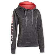Women's Under Armour PIP She's A Fighter Hoodie | FinishLine.com | Carbon Heather
