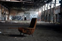 Abandoned industrial building  - one chair, glory