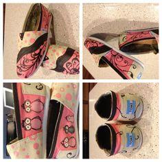 Pink n Brown owl shoes