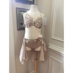 2 Piece Custom Lyrical Dance Costume Tan with Appliques Taupe Beige... ❤ liked on Polyvore featuring costumes, ballet halloween costumes, ballerina costume, ballerina halloween costume, flower halloween costume and holiday costumes