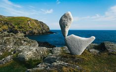 Stone balancing artist Adrian Gray unveils latest work on the Isle of Man Olaf, Stone Balancing, Stone Statues, Buddha Statues, Statue Tattoo, Greek Statues, Dragon Statue, Isle Of Man, Land Art